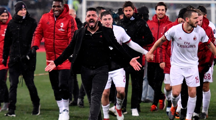Milan, Gattuso: «Finale di Coppa Italia? È anche merito di Montella»