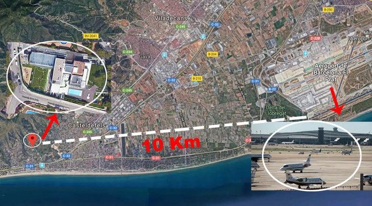 Barcellona, Vueling insorge: «Niente voli sopra la villa di Messi»