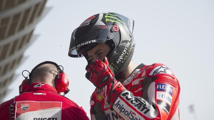MotoGp Ducati, Lorenzo: «La cosa buona è che possiamo ancora migliorare»