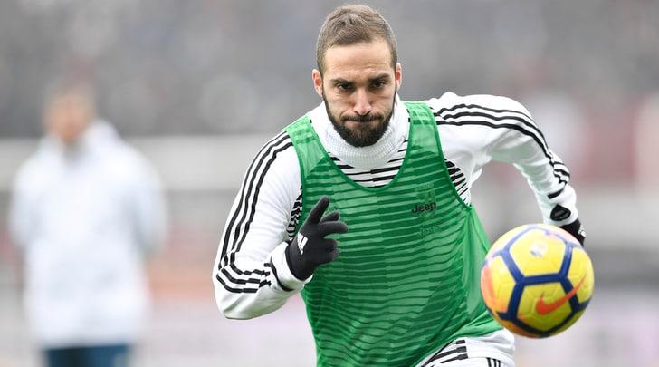 Juventus, Higuain si allena in gruppo: è pronto per il Tottenham