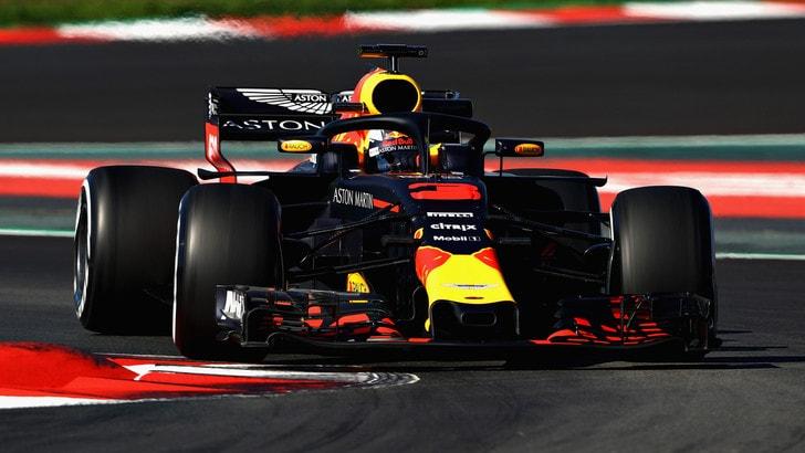 F1, test Barcellona: il leader è Ricciardo