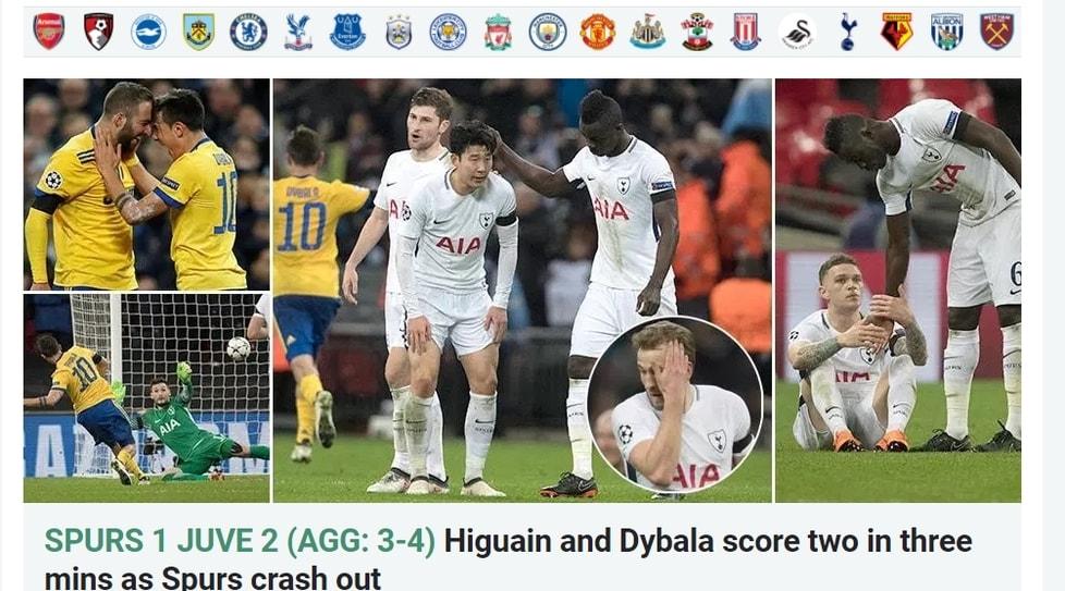 Le prime pagine dei giornali che all'estero hanno raccontato la vittoria bianconera a Wembley contro il Tottenham