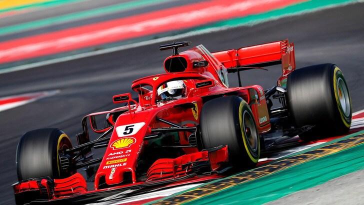 F1, test Barcellona: Vettel rimane un fulmine