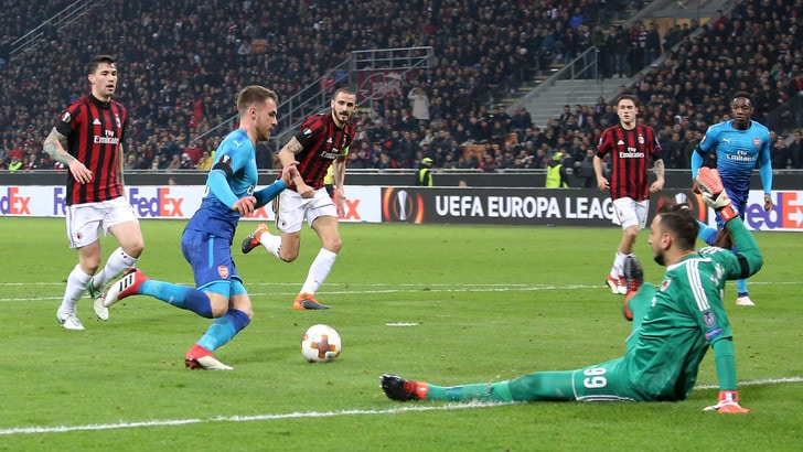 Europa League Milan-Arsenal 0-2, il tabellino