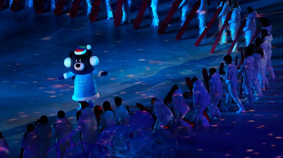 Sfilano tutte le Nazionali che gareggiano alle Olimpiadi invernali in Sud Corea: presentata anche la mascotte Bandabi