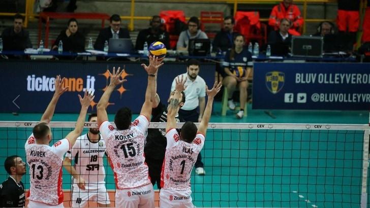 Volley: Cev Cup, Verona cade sotto i colpi dello Ziraat Bankasi e di Antonov