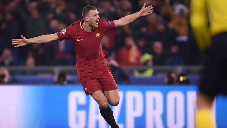 Champions League Roma, Dzeko: «Barcellona? Daremo l'anima»