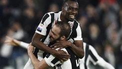 Serie A, scende la quota scudetto per la Juve