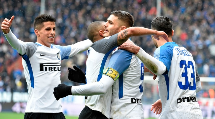 Serie A, Sampdoria-Inter 0-5: apre Perisic, poi si scatena Icardi