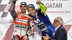 MotoGp Qatar, Dovizioso: «Sono rimasto lucido, Marquez non molla mai»