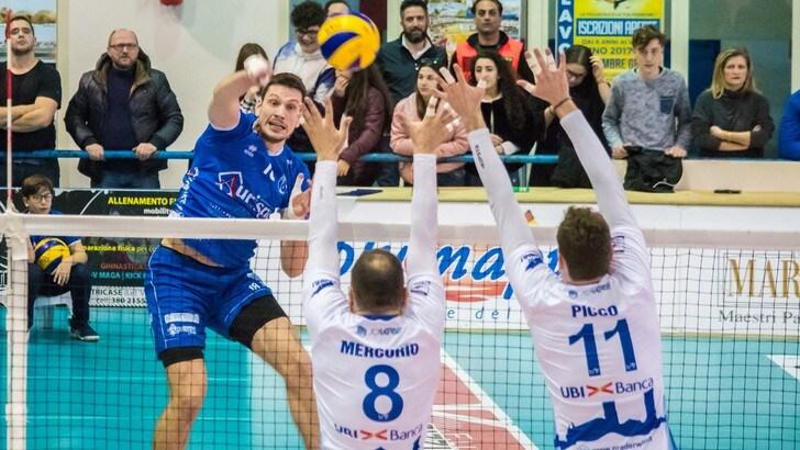 Volley: A2 Maschile, Pool B, Alessano battuta da Mondovì, Gioia del Colle in testa