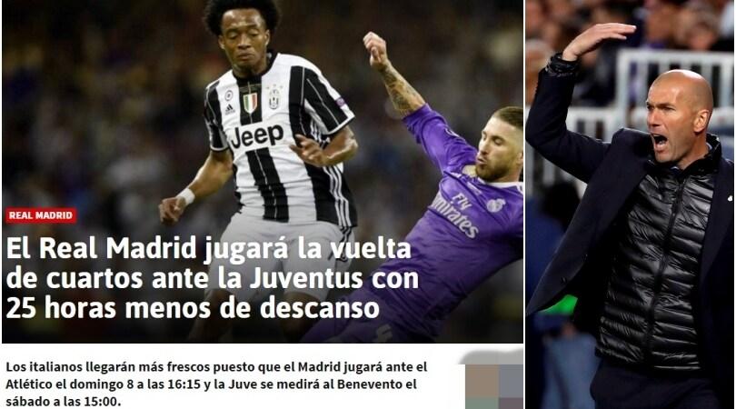 In Spagna si lamentano:«La Juventus riposerà più del Real»