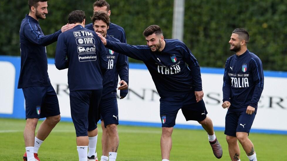 Primo vero allenamento nel ritiro degli azzurri, che si preparano alle prossime amichevoli con Argentina e Inghilterra