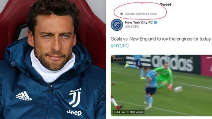 """Juventus, Marchisio e il """"cuoricino"""" misterioso al New York City"""