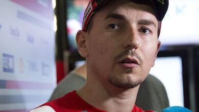 MotoGp Ducati, Lorenzo: «Tra un mese non si parlerà più dello scontro Rossi-Marquez»