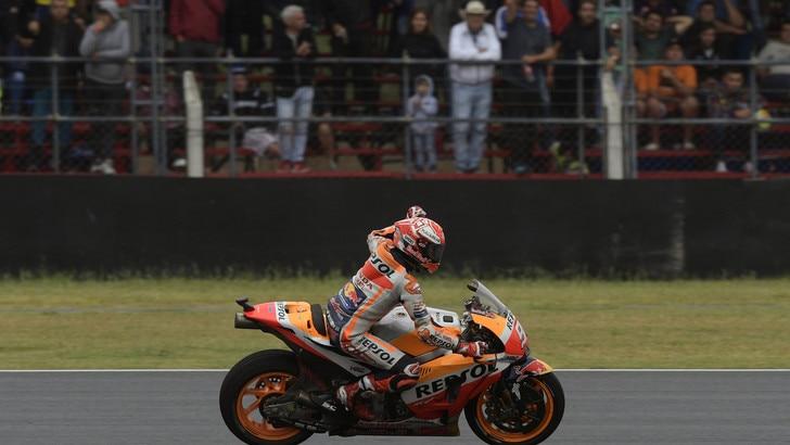 MotoGp Argentina: Marquez primo nel warm up, Rossi 8°