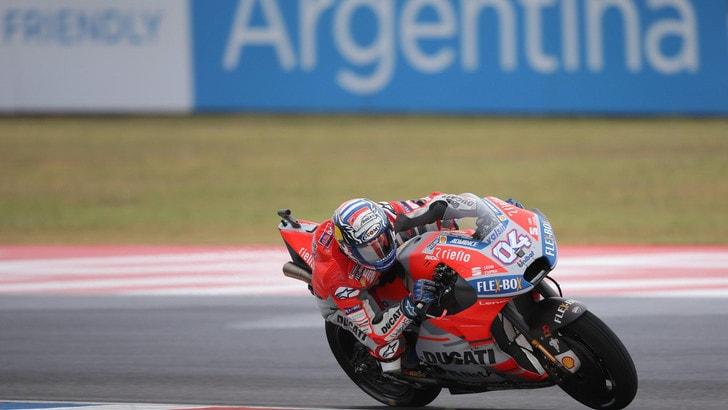MotoGp Argentina, Dovizioso: «Con queste condizioni poteva solo andare peggio»