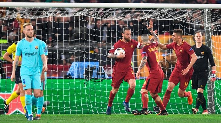 Champions League, Roma-Barcellona 3-0: impresa straordinaria, è semifinale!