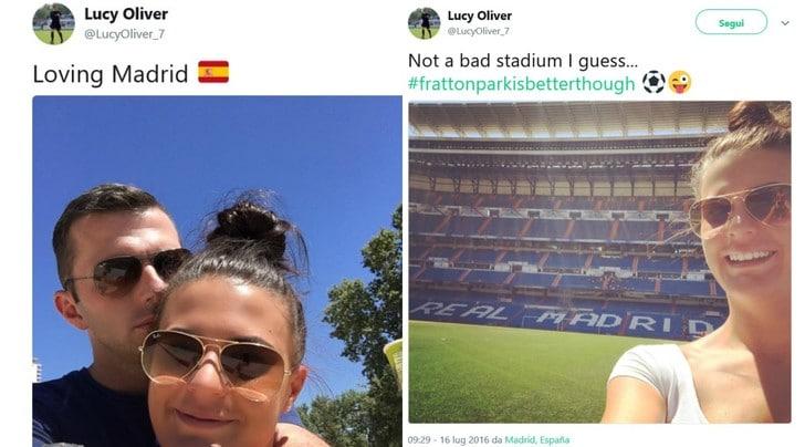 Real-Juve, spunta un tweet di lady Oliver: «Loving Madrid»