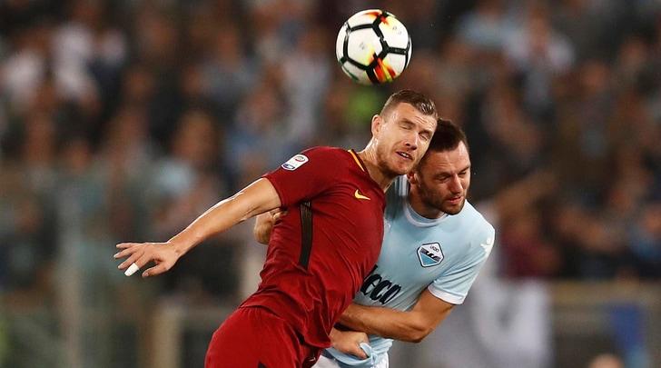 Lazio-Roma 0-0: i legni fermano Bruno Peres e Dzeko