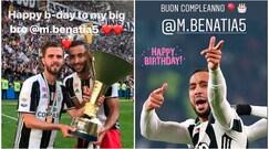Juventus, Benatia si consola con gli auguri dei compagni di squadra