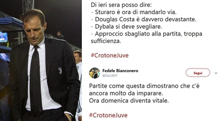 Crotone-Juventus, il forum dei tifosi: «Ecco cos'è che non va»