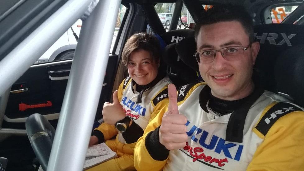 Stefano Martinelli, reduce dal terzo posto al Rally di Sanremo, affina il feeling con la vettura vergata con il logo AISM