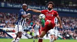 Premier League, Liverpool distratto è raggiunto sul 2-2 dal WBA: Salah record