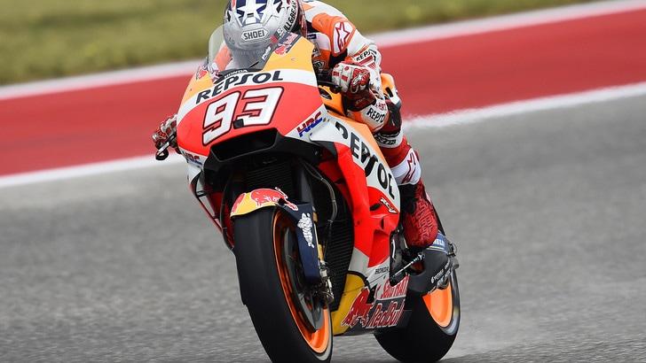 MotoGp Usa, griglia di partenza: Marquez in pole, Rossi 5°