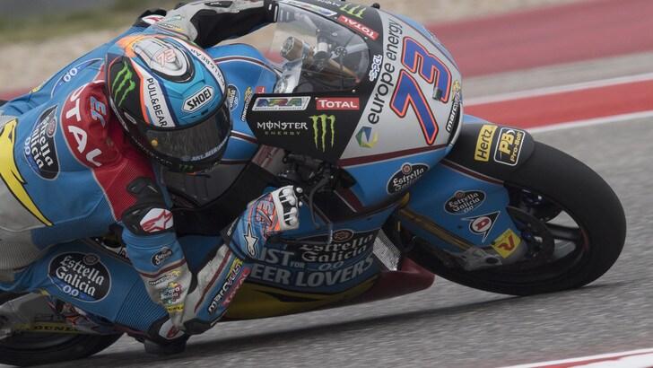 Moto2 Usa, pole di Alex Marquez! Pasini scatta 3°