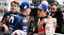 MotoGp Usa, Marquez penalizzato, partirà quarto, davanti a Rossi