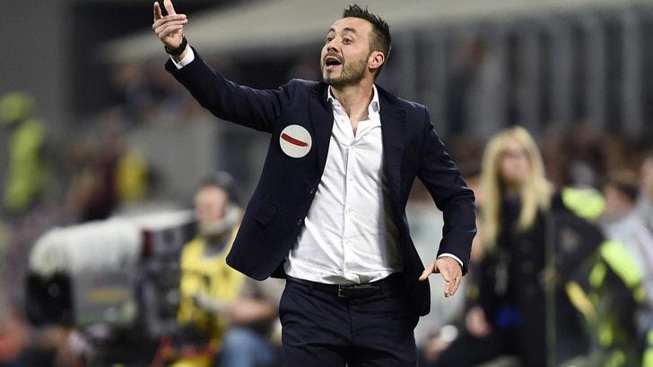 Serie A Benevento, De Zerbi: «Un premio che ci teniamo stretto»