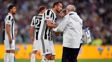 Juventus, lesione al bicipite femorale per Chiellini
