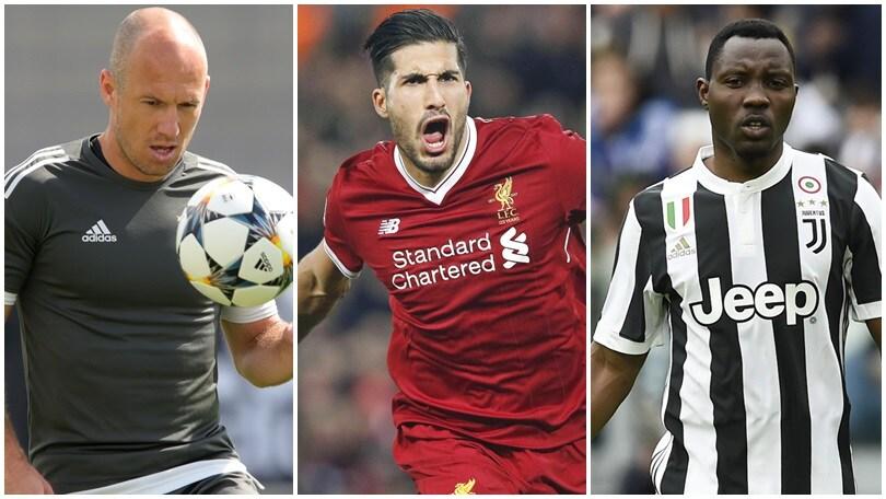 La top 10 degli svincolati: tre sono della Juventus, uno è del Napoli