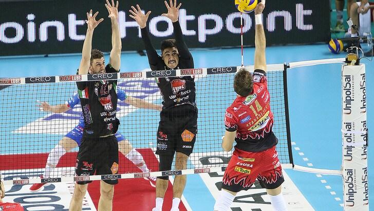 Volley: Superlega, mercoledì sera secondo round tra Civitanova e Perugia