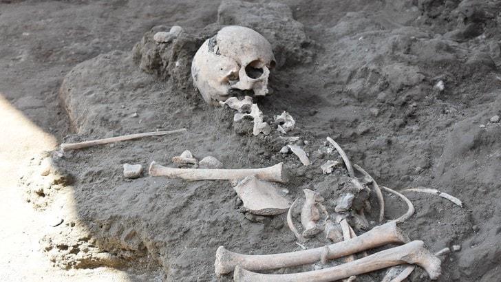 Trovato scheletro bimbo in scavi Pompei