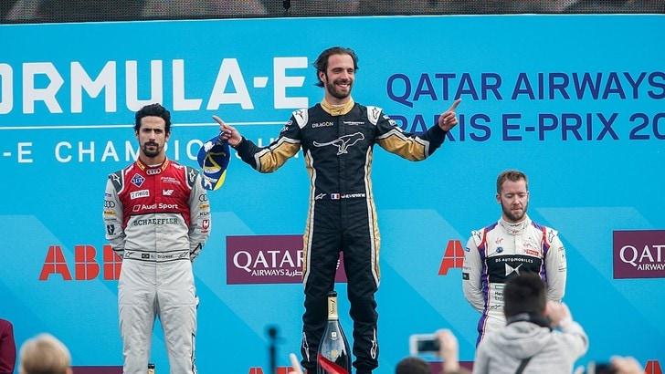Formula E Parigi, Vergne vince in casa e vola in classifica