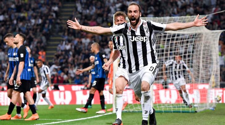 Cuadrado e Higuain ribaltano l'Inter: impresa scudetto. Vince la Juventus 3-2, + 4 sul Napoli
