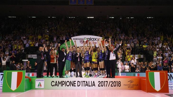 Volley: A1 Femminile, l'Imoco Conegliano è Campione d'Italia
