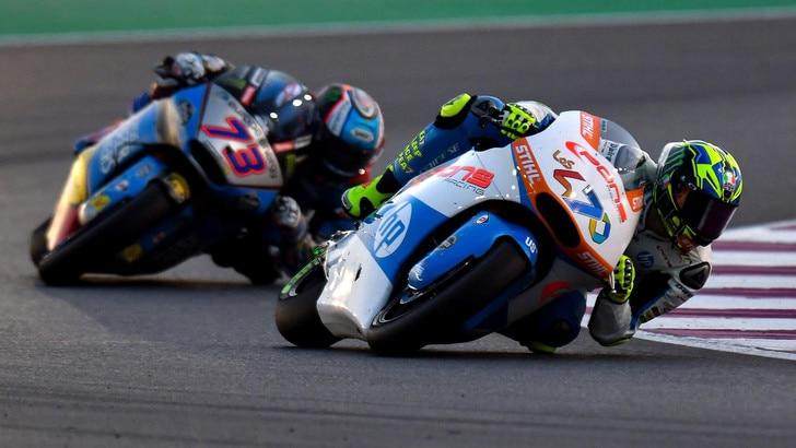 Moto 2 Spagna, Baldassarri vola in pole, 3° Bagnaia