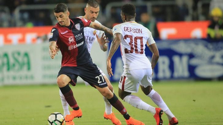 Serie A Cagliari-Roma 0-1, il tabellino