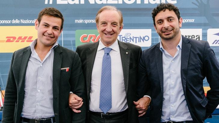 Volley: i tecnici ed il presidente Cattaneo hanno dato il via all'estate azzurra