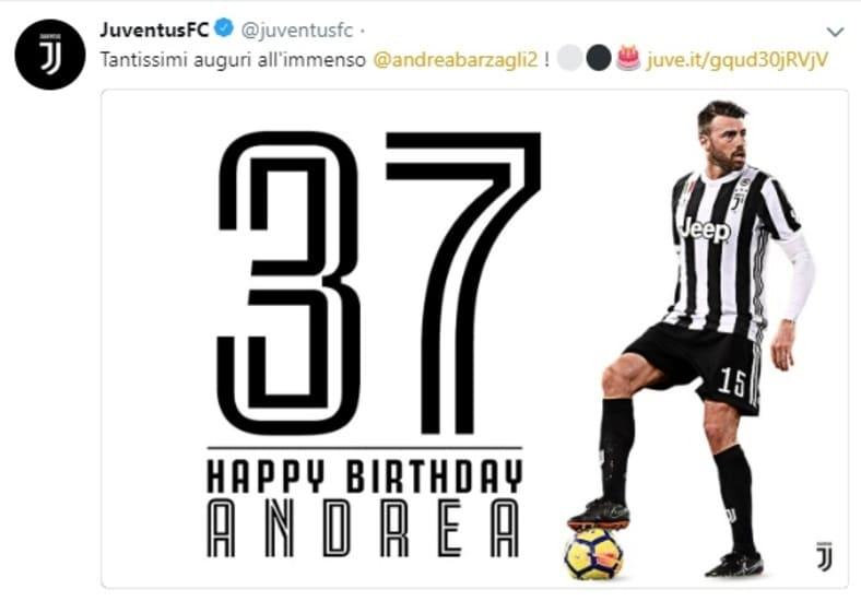 Juventus Buon Compleanno Andrea Barzagli Tuttosport
