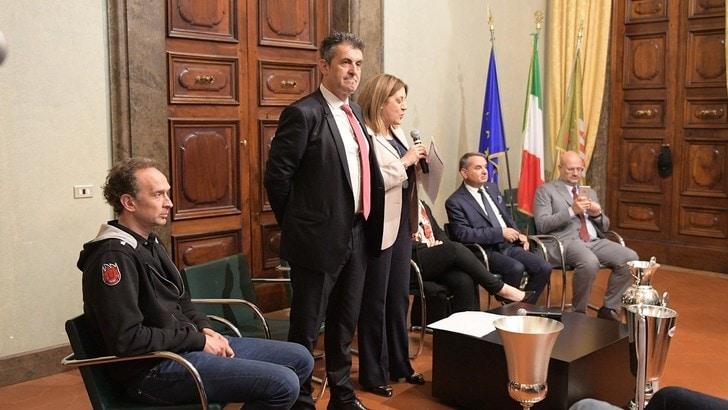 Volley: Superlega, Perugia ricevuta dalle istituzioni per festegiare il