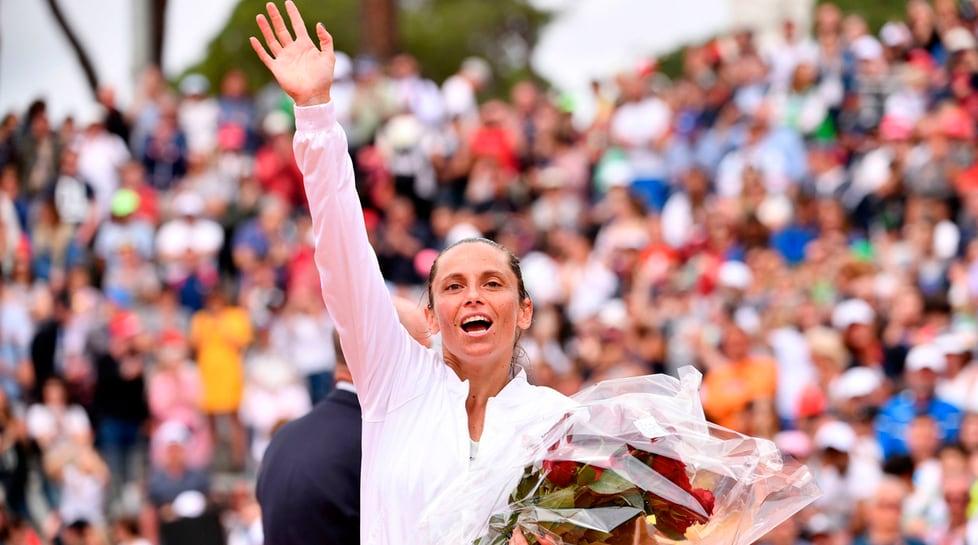 La tennista azzurra esce sconfitta al primo turno dal torneo romano e saluta il tennis dopo il ko contro la serba Krunic: «Sono stati anni splendidi, anche se ho perso sono contenta»