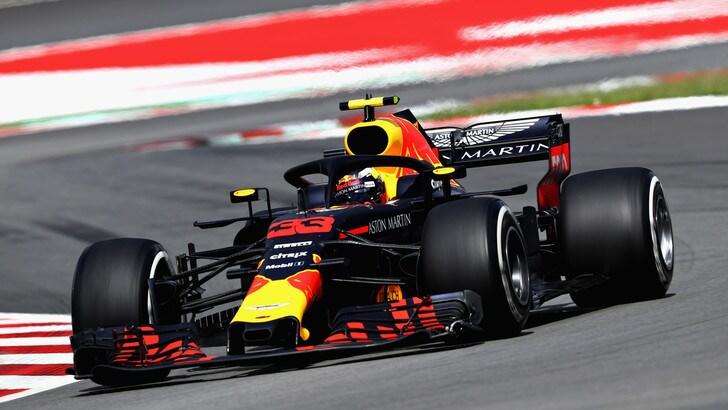 F1 test Barcellona, nel pomeriggio Verstappen c'è, 3° Vettel