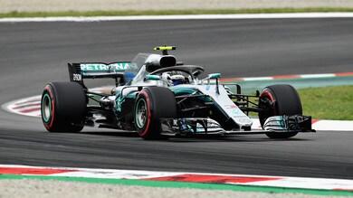 F1 test Barcellona, Day 2: Bottas si conferma, 2° Giovinazzi