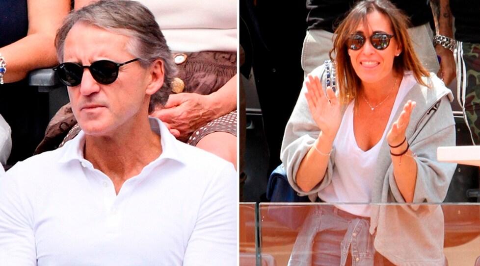 L'ex campionessa, moglie del tennista, e il neo ct azzurro hanno assistito al quarto di finale tra il ligure e Nadal