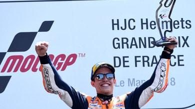 MotoGp Francia, Marquez: «Grande gara, qui non siamo mai andati così bene»