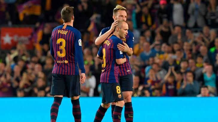 Liga: il Barcellona vince nell'ultima di Iniesta